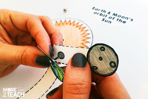 The best way to clear up misconceptions kids have is by letting them experience on their own. By making models of the Earth & Moon's orbit around the Sun, students gain a better picture of what's really going on in space. This activity is also great for interactive notebooks!