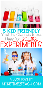 Check out these 5 kid-friendly YouTube Channels. They are perfect for getting ideas for future science experiments.