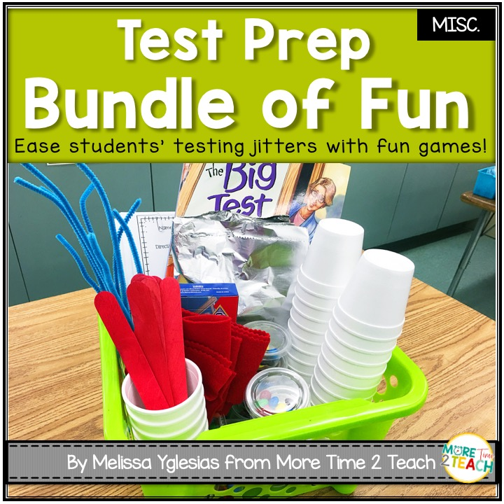 With so much testing going on lately, TEST ANXIETY is at an all time high! Don't let standardized tests stress your students. Check out these fun games you can play in your class to help ease your students' anxiety. Fun Games to Relieve Test Anxiety- More Time 2 Teach #testing #testingtips