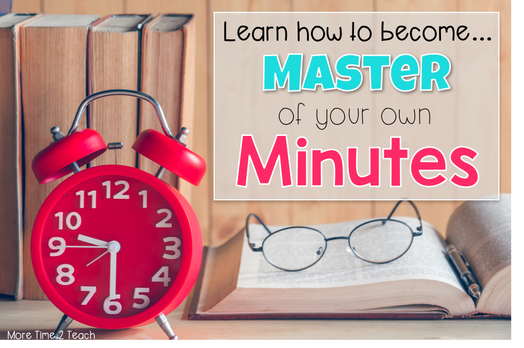 With so little hours in the day, hundreds of papers to grade, a weeks worth of lessons to plan for, and data to review, learning how to manage your time is crucial for TEACHERS. This post targets 6 things TEACHERS can do right now to start managing their time better! Click to learn more about these tips on MoreTime2Teach.com