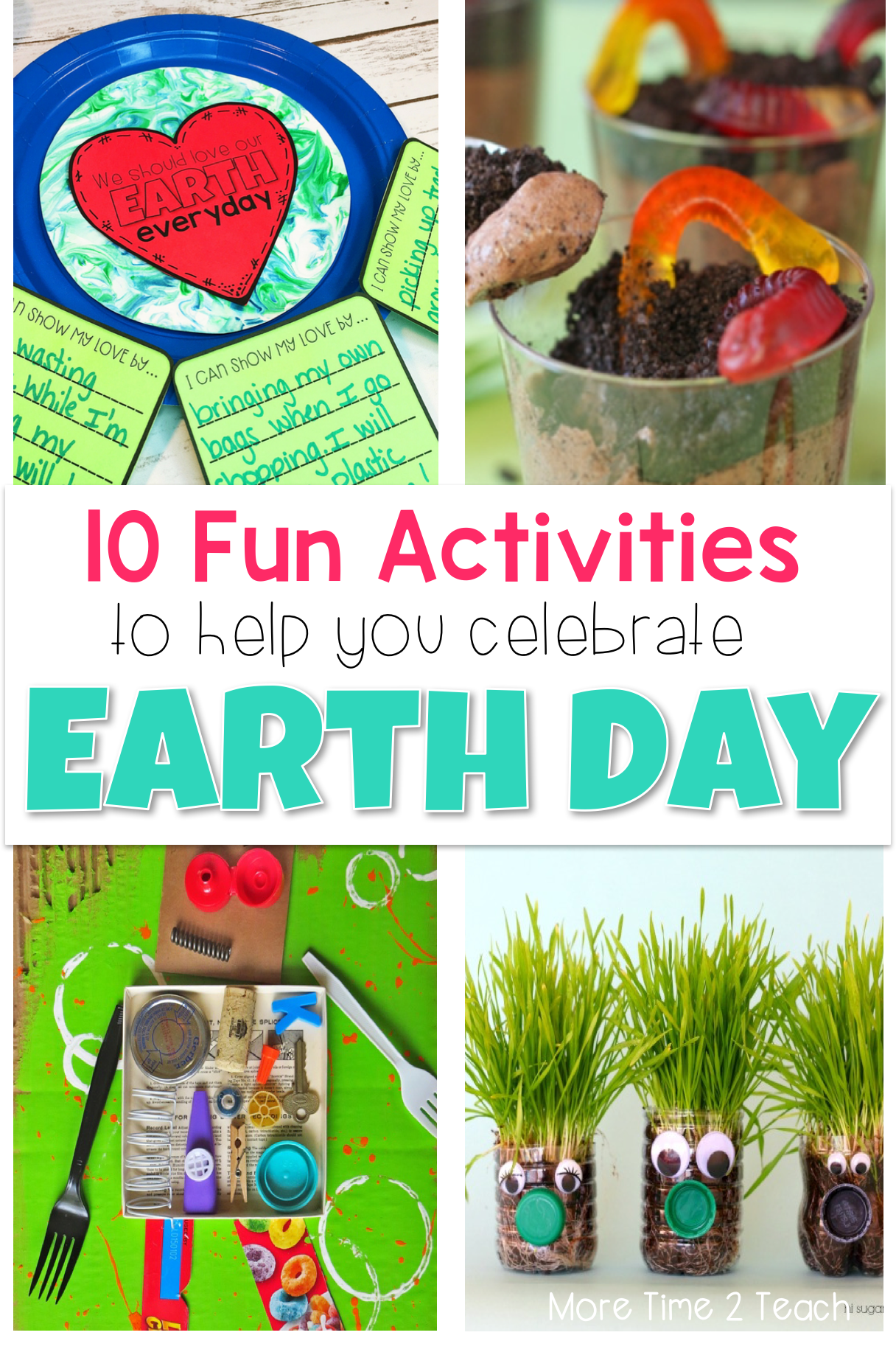 Earth Day should be celebrated EVERYDAY... With these FUN and CREATIVE ideas your kids will have a blast celebrating our beautiful planet! There's plenty of activities to last you more than a week.