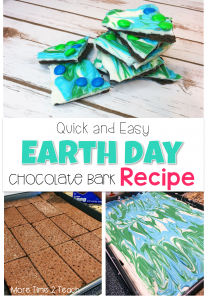 This quick and easy to make Chocolate Bark recipe is a great way to celebrate Earth Day. It's sure to be a hit with the kids and is so simple that anyone can make it! Beware, once you try it you won't be able to put it down!