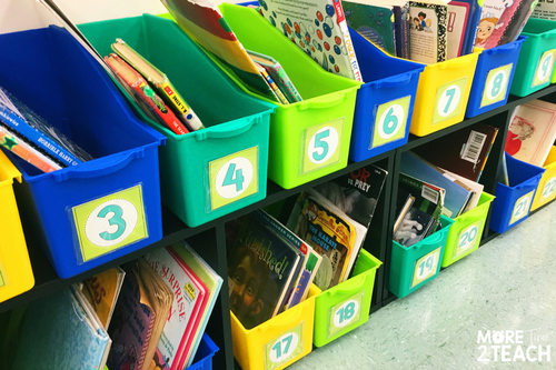 Being a teacher can be overwhelming at times! That's why it's so important to work smarter and not harder. Numbering student book bins means you only have to do it once and can forget about it