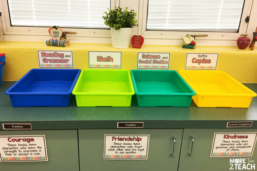 Are you tired of having stacks of papers on your desk? If so, then turn in bins are perfect for you. When students finish assignments just have them place their work into these multicolored bins. Whenever YOU are ready, simply go get the papers from the labeled bins. It's that easy!