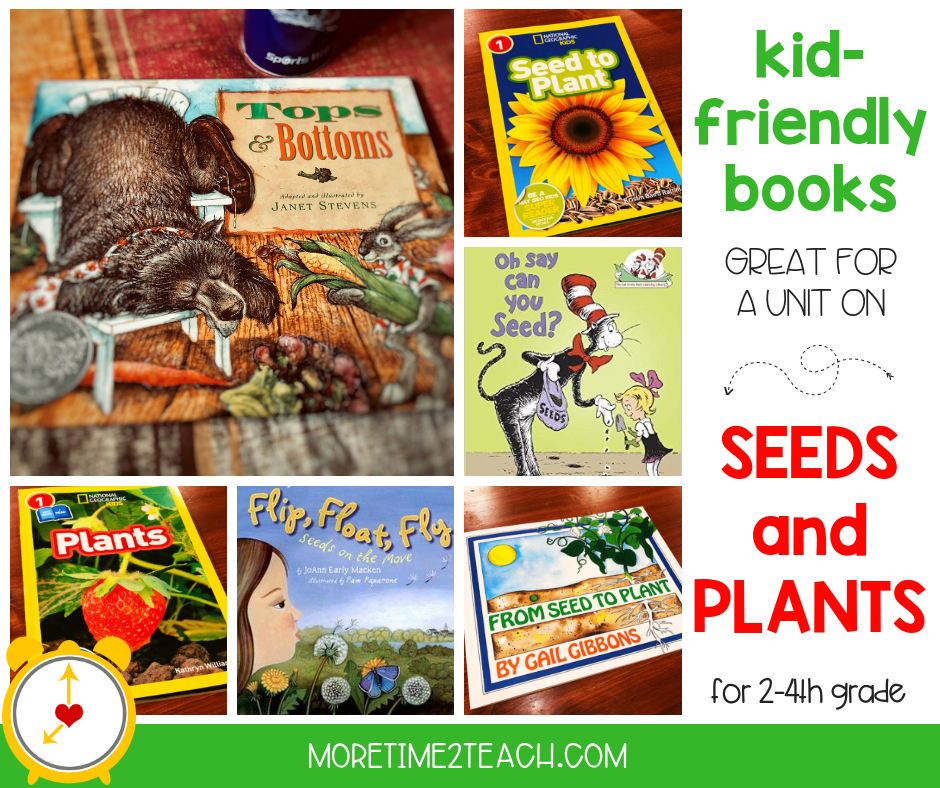 Spring is the perfect time to begin a unit on seeds and plants! And what better way to get your kids excited, than by reading kid-friendly plant books. Read Aloud Books for Teaching About Plants | Mentor Texts for Science. - More Time 2 Teach #Books #Spring #AllAboutPlantsUnit