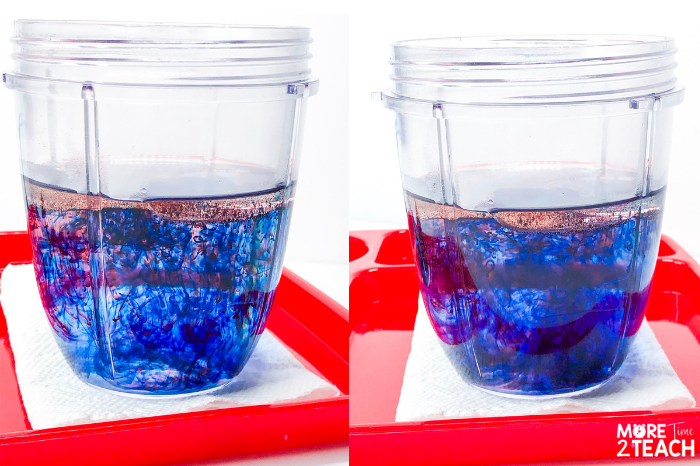 Mix oil and food coloring. (You can use a spoon or shake it in a jar.)