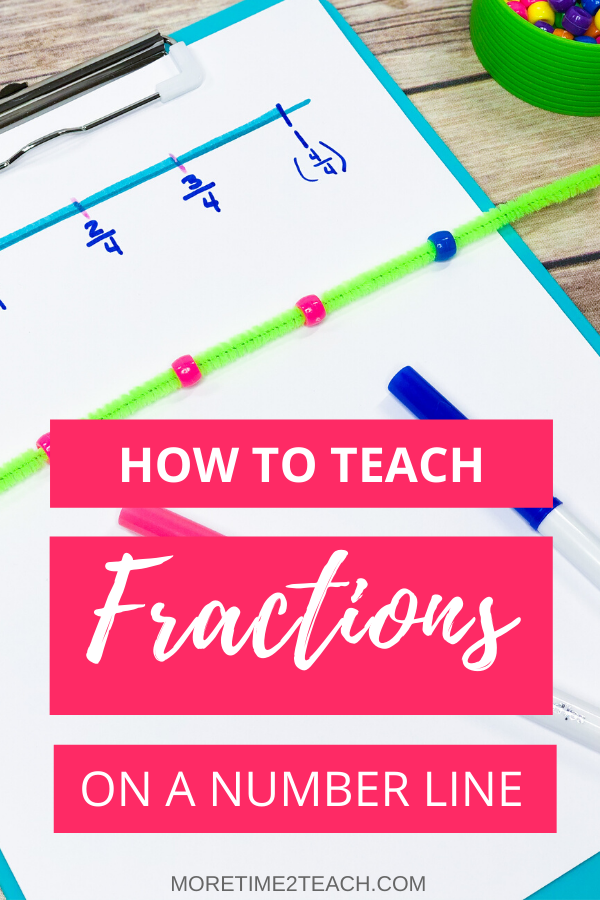Teaching your kids all about fractions on a number line without all the fuss. Here are 4 hands on fraction activities for kids that will make learning about fractions on a number line fun! #Teachingfractions #Handsonfractions #Fractionactivities
